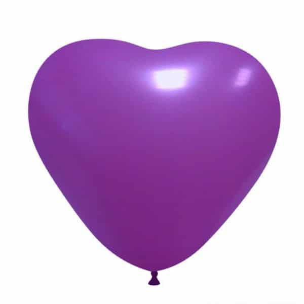 palloncini cuore viola 14