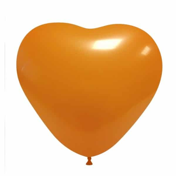 palloncini matromonio san valentino cuore arancione