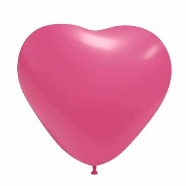 palloncini matromonio san valentino cuore fucsia