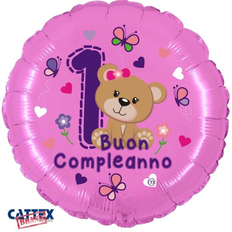 """Palloncini compleanno 1° Compleanno Orsetta (18"""")"""