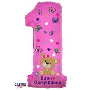 """Palloncini compleanno 1° Compleanno Orsetta Supershape (40"""")"""