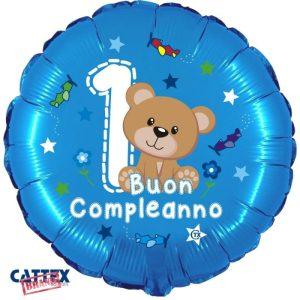 """Palloncini compleanno 1° Compleanno Orsetto (18"""")"""