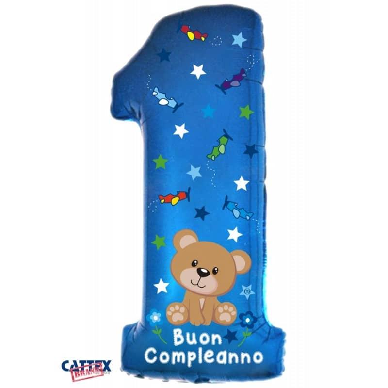 """Palloncini compleanno 1° Compleanno Orsetto Supershape (40"""")"""