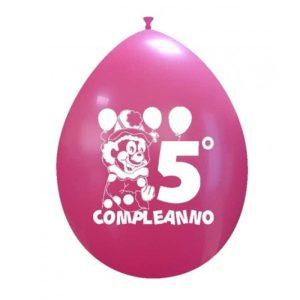 Palloncini compleanno 5° Compleanno