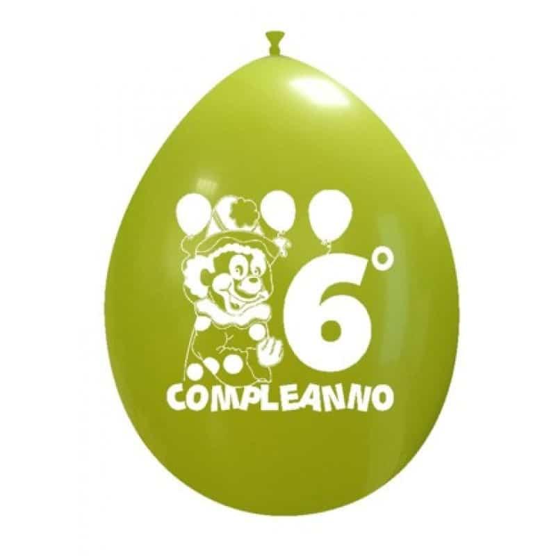 Palloncini compleanno 6° Compleanno