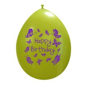 Palloncini compleanno Happy Birthday Farfalle