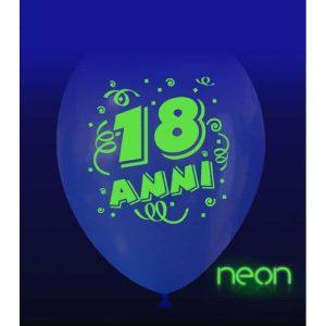 Palloncini compleanno 18 Anni Neon