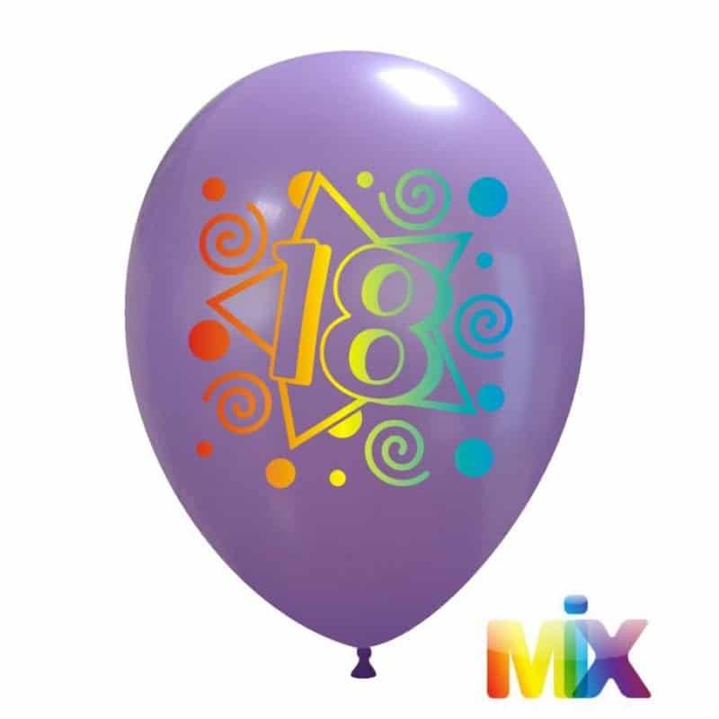 Palloncini compleanno 18 Anni Sfumato