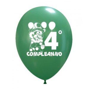 Palloncini compleanno 4° Compleanno