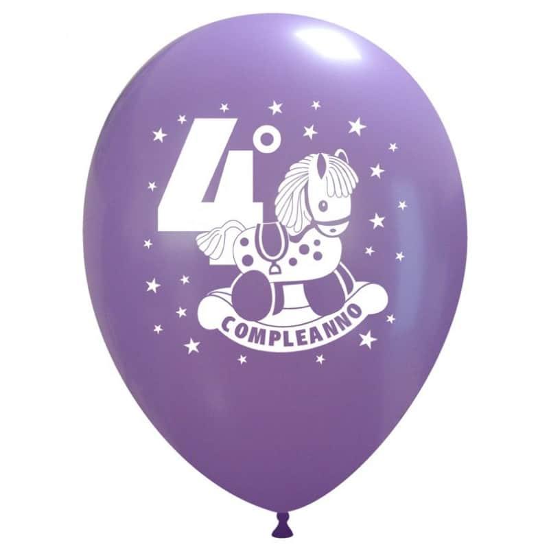 Palloncini compleanno 4° Compleanno Cavalluccio