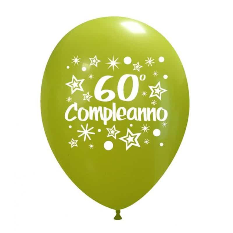 Palloncini compleanno 60° Compleanno