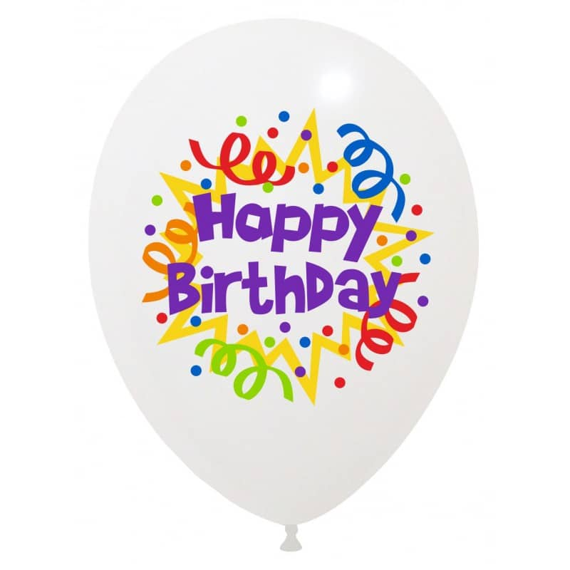 Palloncini compleanno Happy Birthday (6 Colori)