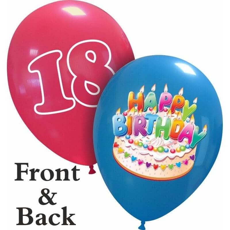 Palloncini compleanno Happy Birthday Torta 18 (Edizione Limitata)