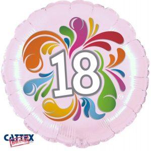 """Palloncini Compleanno - 18 Anni Colorato (18"""")"""