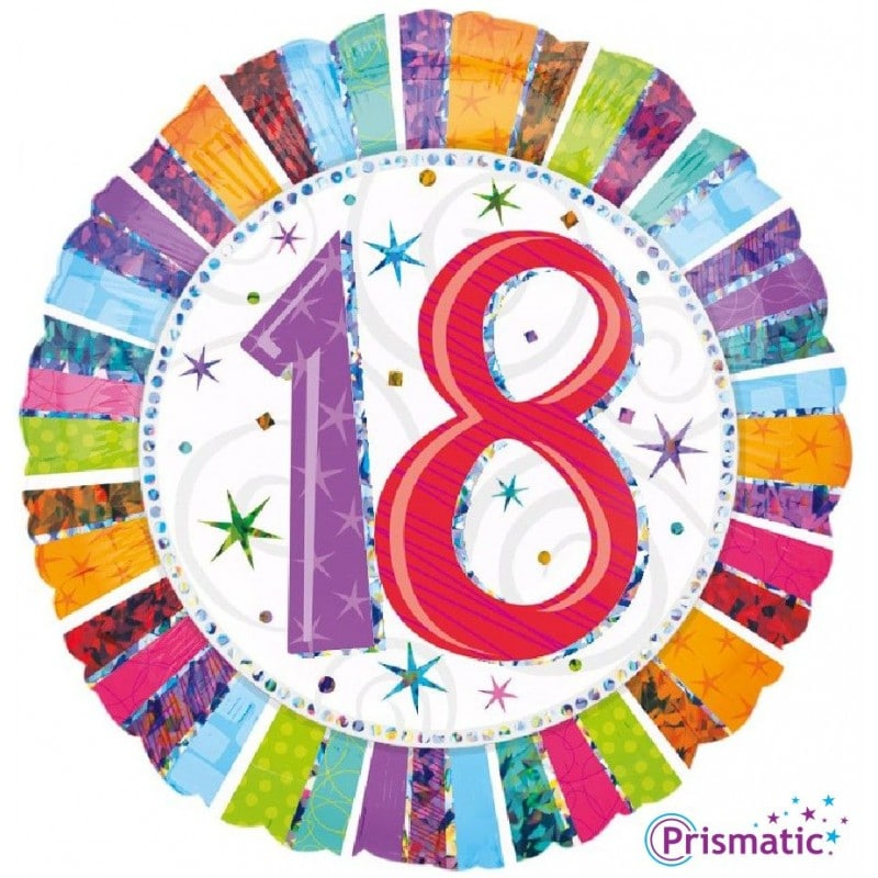 """Palloncini compleanno 18 Radiant Birthday (18"""")"""