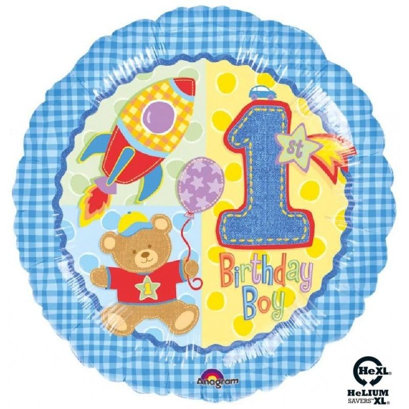 "Palloncini compleanno 1st Birthday Bimbo HeXL® (18"")"