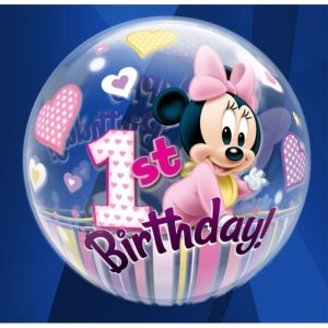 "Palloncini compleanno 1st Birthday Minnie (22"")"