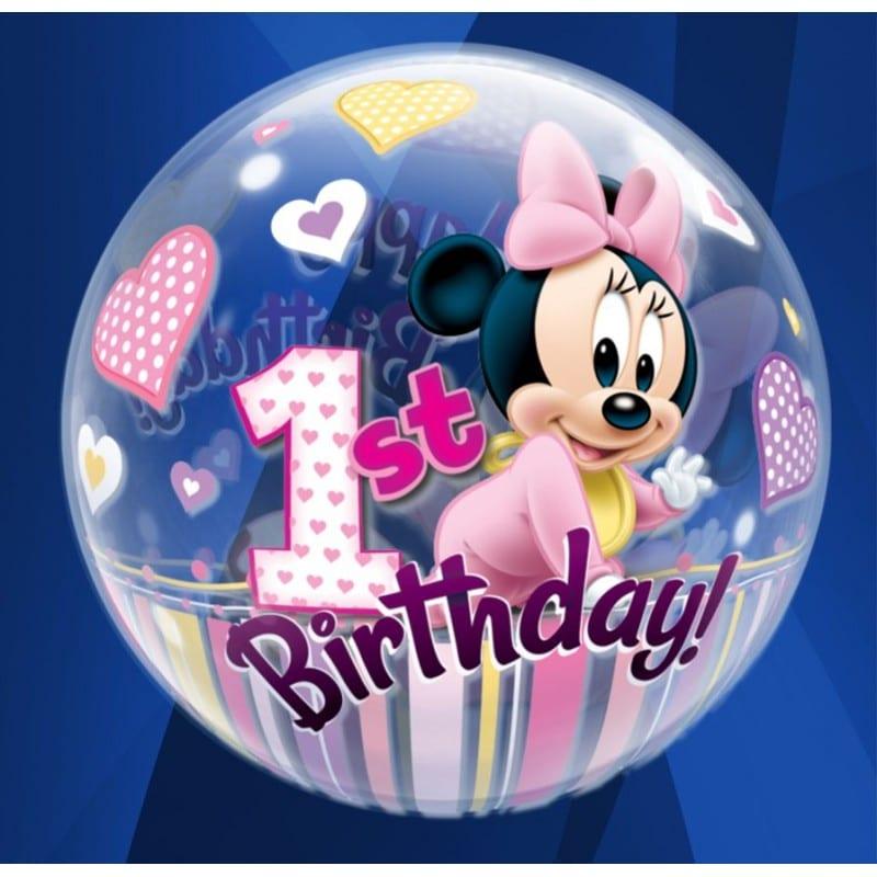 "Palloncini compleanno 1st Birthday Minnie (22"")"