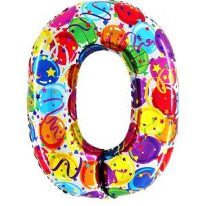 """Palloni numeri grandi - Numero """"0"""" Decorati"""