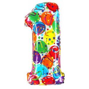 """Palloni numeri grandi - Numero """"1"""" Decorati"""