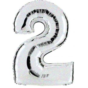 """Palloni numeri grandi - Numero """"2"""" Olografico"""