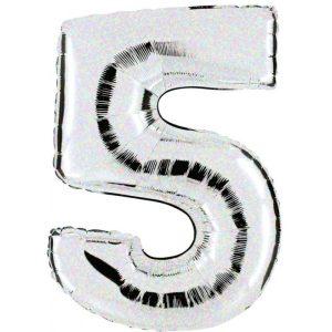 """Palloni numeri grandi - Numero """"5"""" Olografico"""