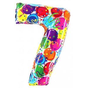 """Palloni numeri grandi - Numero """"7"""" Decorati"""