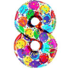 """Palloni numeri grandi - Numero """"8"""" Decorati"""