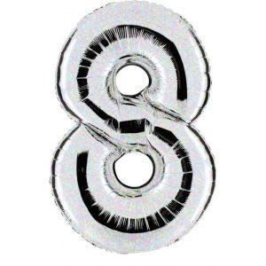 """Palloni numeri grandi - Numero """"8"""" Olografico"""