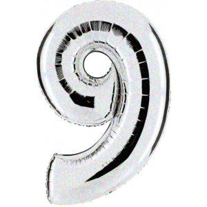 """Palloni numeri grandi - Numero """"9"""" Olografico"""