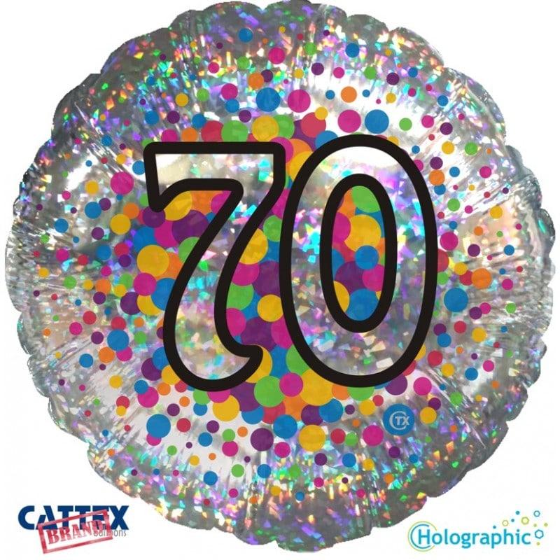 """Palloncini compleanno 70 Olografico (18"""")"""