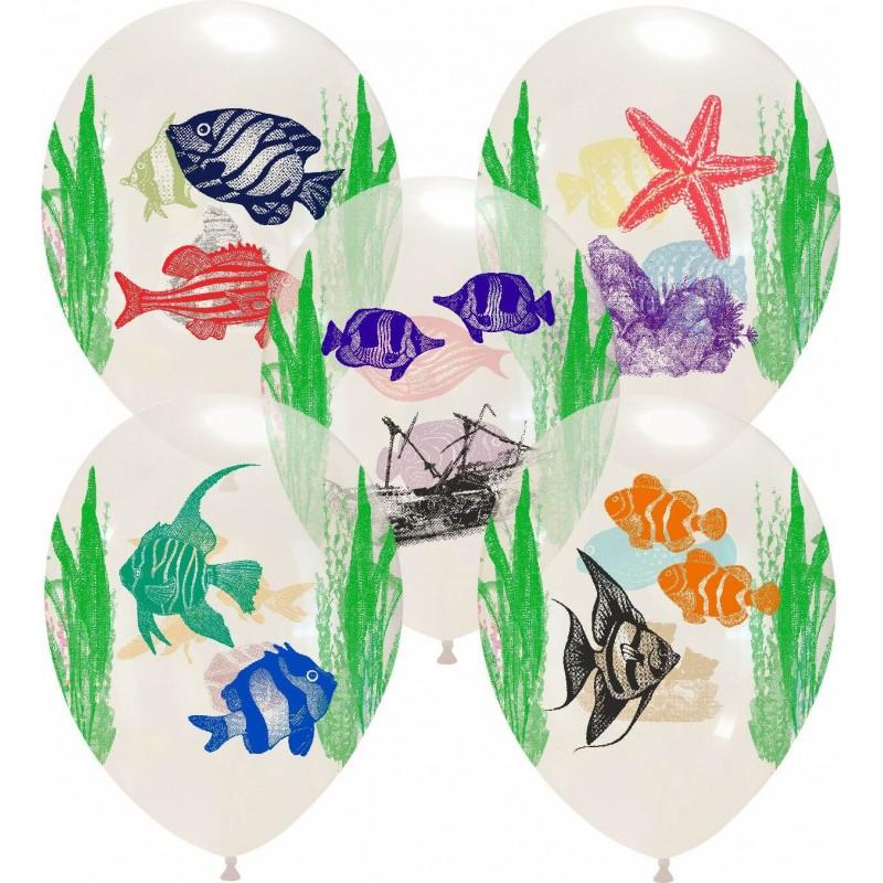 Palloncini stampa globo - acquario (multicolor)