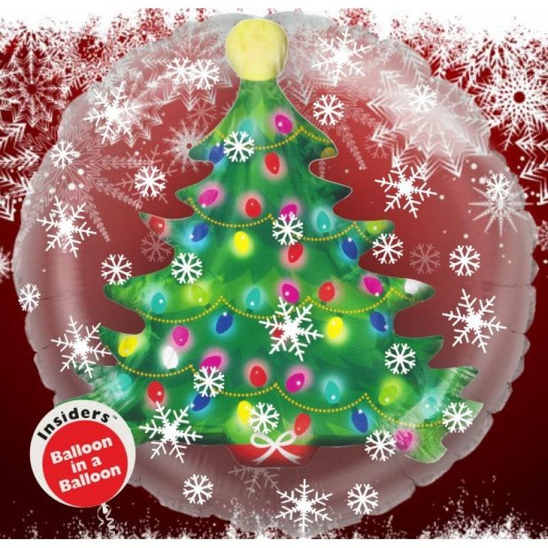"""Palloncini natalizi - albero di natale in un pallone (24"""")"""