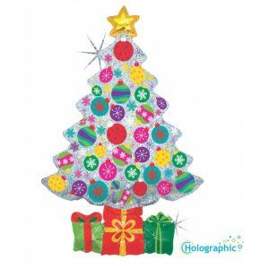 """Palloncini natalizi - albero di natale scintillante (39"""")"""