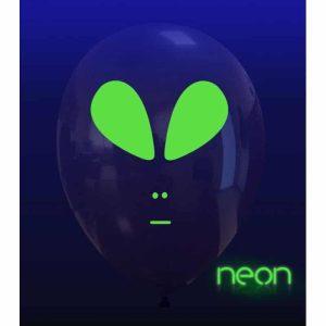 Palloncini facce - alieno neon