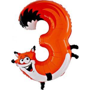 """Palloni numeri grandi - Animaloon Maxi Numero """"3"""""""