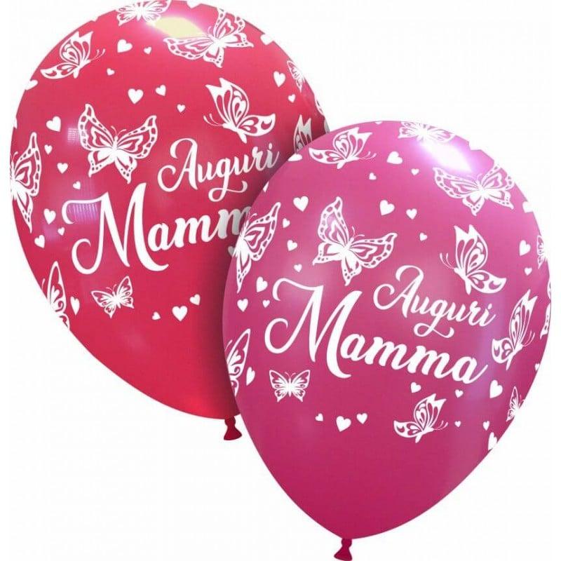 Palloncini stampa globo - auguri mamma farfalle