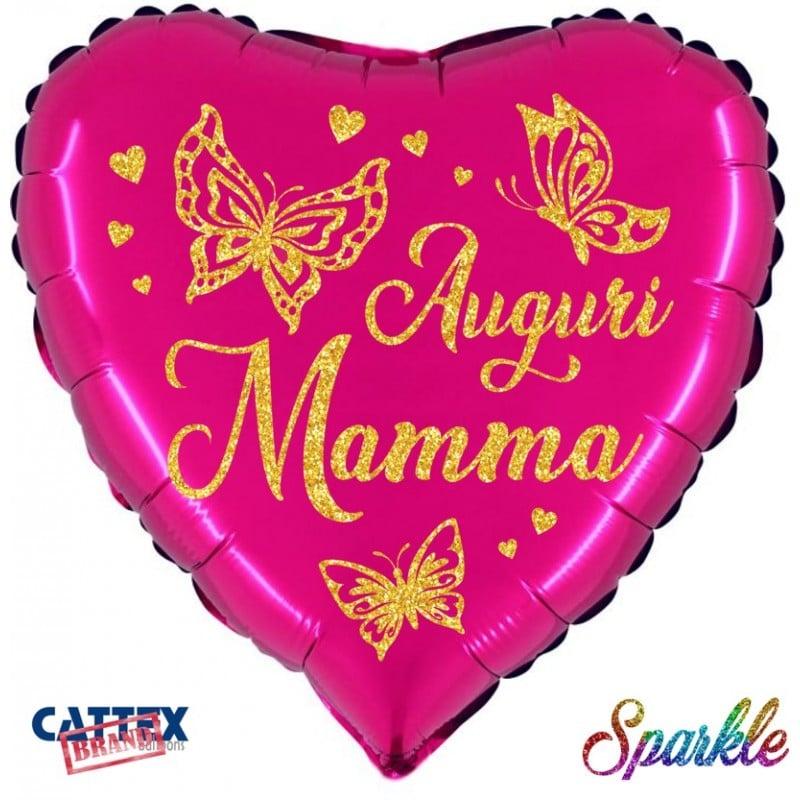 """Palloncini mylar vari Auguri Mamma Sparkle (18"""")"""
