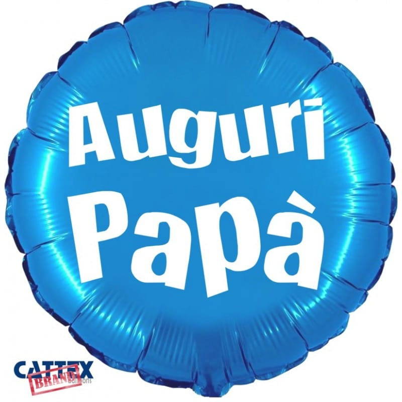 """Palloncini mylar vari Auguri Papà (18"""")"""