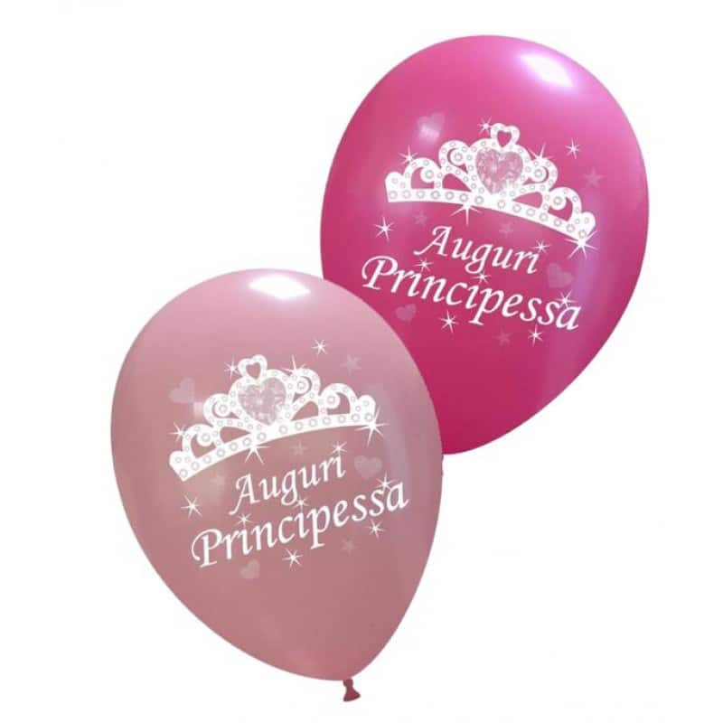 Palloncini auguri - auguri principessa