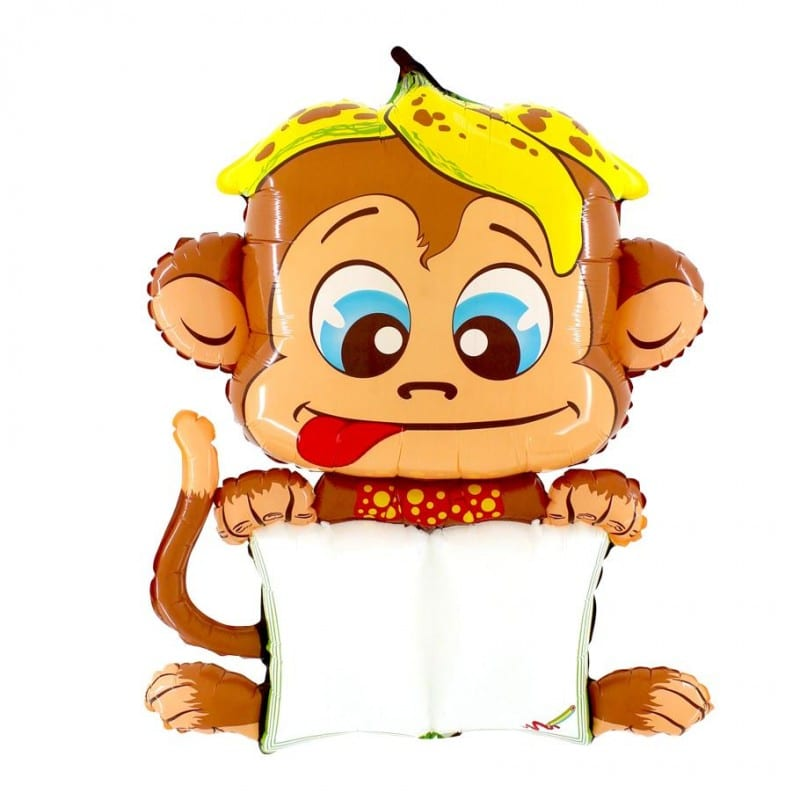 "Palloncini animali - b-pad scimmia buffa (45"")"