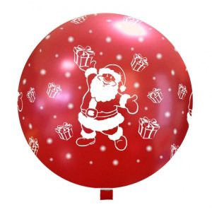 Palloncini natalizi - babbo natale carino