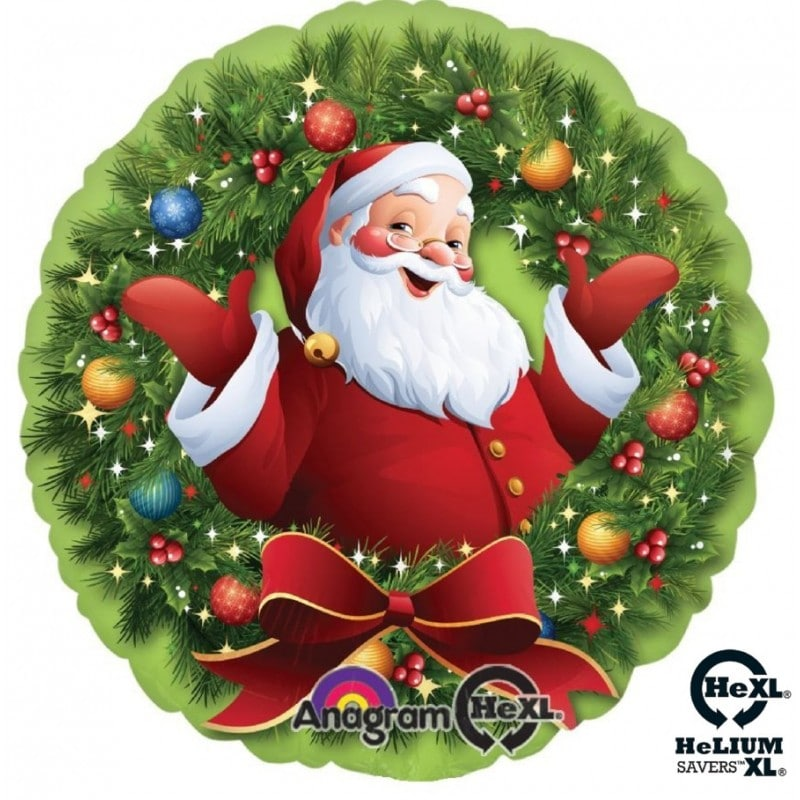 "Palloncini natalizi - babbo natale ghirlanda hexl® (18"")"