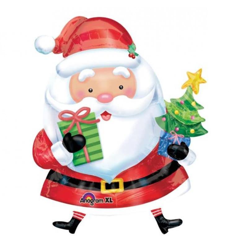 """Palloncini natalizi - babbo con albero xl® supershapes™ (47"""")"""