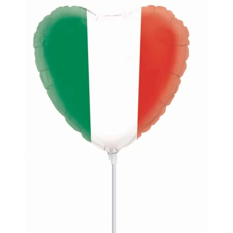 "Palloncini mylar vari Bandiera Italiana Cuore MiniShape (9"")"
