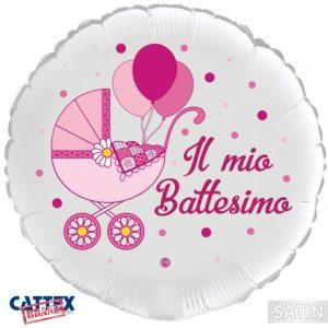 "Palloncini mylar religiosi Battesimo Bimba Carrozzina (18"")"