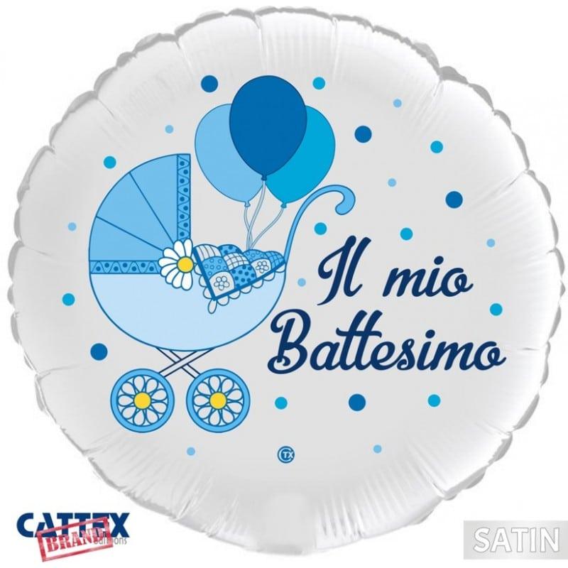 "Palloncini mylar religiosi Battesimo Bimbo Carrozzina (18"")"