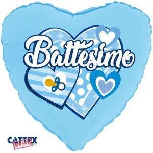 "Palloncini mylar religiosi Battesimo Cuori Celeste (18"")"
