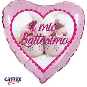 "Palloncini mylar religiosi Battesimo Scarpette Rosa (18"")"