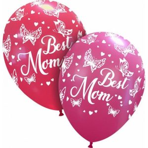 Palloncini stampa globo - best mom farfalle